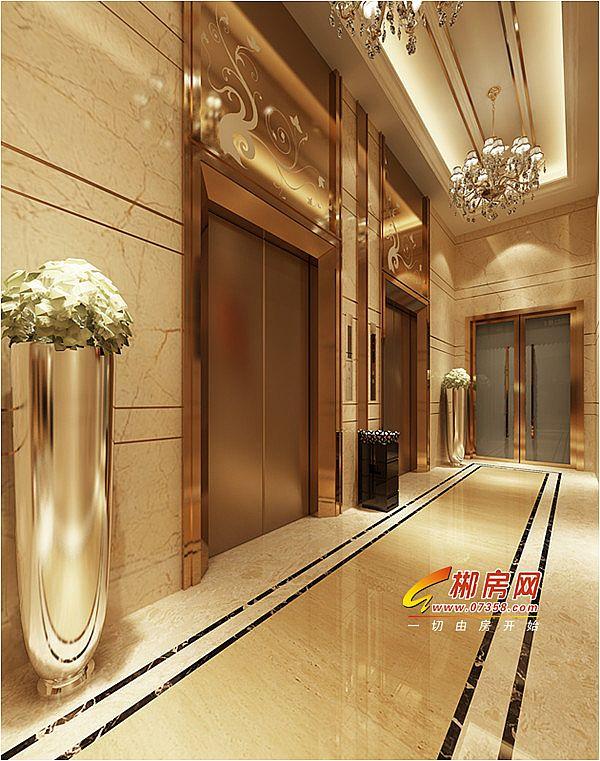 二期电梯间及入户大堂效果图